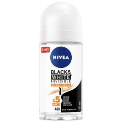 Nivea Dezodorant BLACK& WHITE INVISIBLE Ultimate Impact 5in1 roll-on  50ml