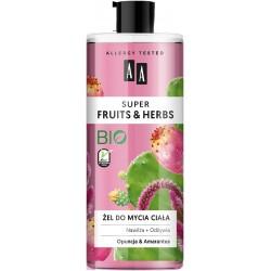 AA Super Fruits & Herbs Żel do mycia ciała nawilżająco-odżywczy Opuncja i Amarantus  500ml
