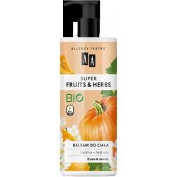 AA Super Fruits & Herbs Balsam do ciała ujędrniająco-wygładzający Dynia i Jaśmin  500ml