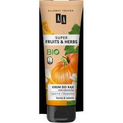 AA Super Fruits & Herbs Krem do rąk ujędrniająco-wygładzający Dynia i Jaśmin  100ml