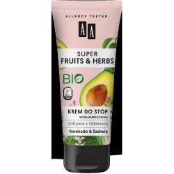 AA Super Fruits & Herbs Krem do stóp odżywczo-odświeżający Awokado & Szałwia  75ml