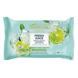 Bielenda Fresh Juice Chusteczki micelarne z wodą cytrusową Limonka 1op.-20szt