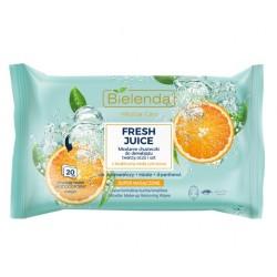 Bielenda Fresh Juice Chusteczki micelarne z wodą cytrusową Pomarańcza 1op.-20szt