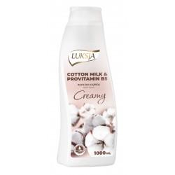 Luksja Creamy Płyn do kąpieli Cotton Milk & Provitamin B5  1000ml