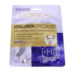 Loreal Hyaluron Specjalist Maska na tkaninie nawilżająco-wypełniająca  30g