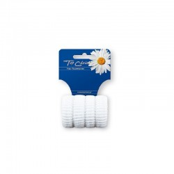 Top Choice Gumka do włosów karbowane białe (22616)  1op.-4szt