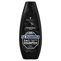 Schwarzkopf  Schauma Men Szampon oczyszczający 3w1 Charcoal  400ml
