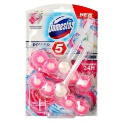 Domestos Ocean DUO Kostka WC Power 5 Platinum koszyk - Fresh Rose & Jasmine  2 x 55g