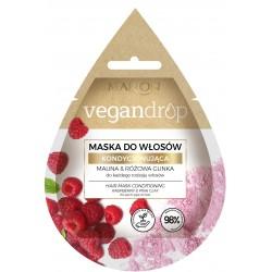 Marion Vegan Drop Maska do włosów kondycjonująca Malina& Różowa Glinka  20ml