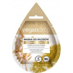 Marion Vegan Drop Maska do włosów odbudowująca Owies & Złota Glinka  20ml