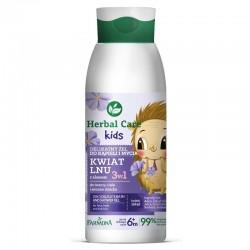 Farmona Herbal Care Kids Delikatny Żel do kąpieli i mycia dla dzieci 3w1 Kwiat Lnu 400ml