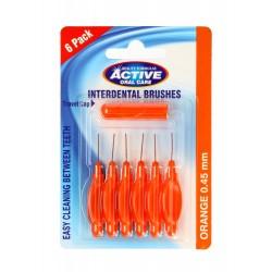 Beauty Formulas Active Oral Care Czyściki do przestrzeni międzyzębowych 0.45mm orange 1op.-6szt
