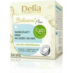 Delia Cosmetics Botanic Flow Krem nawilżający z olejem kokosowym na dzień i noc  50ml
