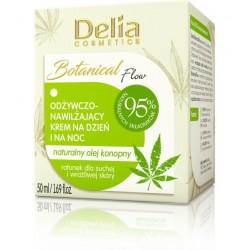Delia Cosmetics Botanic Flow Krem odżywczo-nawilżający z olejem konopnym na dzień i noc  50ml