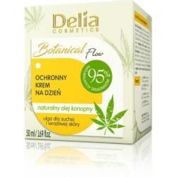 Delia Cosmetics Botanic Flow Krem ochronny z olejem konopnym na dzień  50ml