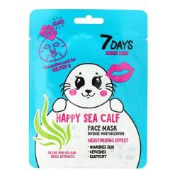 VILENTA 7 Days Animal Maska na twarz w płacie intensywnie nawilżająca Happy Sea Calf 28g