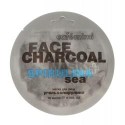 Cafe Mimi Face Charcoal Maseczka do twarzy Węgiel Bambusowy & Spirulina Sea 10ml