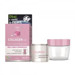 Floslek Collagen Up Krem multi kolagenowy na dzień i noc ECO zestaw - słoik+wkład  50ml