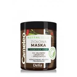 Delia Cosmetics Cameleo Herbal Maska Ziołowa do włosów brązowych i ciemnych 250ml