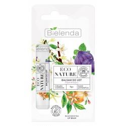 Bielenda Eco Nature Balsam do ust regenerujący z mleczkiem waniliowym - Figa i Kwiat Pomarańczy  10g