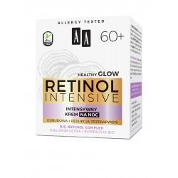 AA Retinol Intensive 60+ Intensywny Krem na noc - redukcja przebarwień + odbudowa 50ml