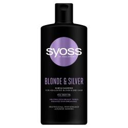 Schwarzkopf  Syoss Blonde & Silver Szampon do włosów przeciw żółtym tonom  440ml