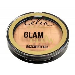 Celia De Luxe Rozświetlacz Glam & Glow nr 106 gold  9g
