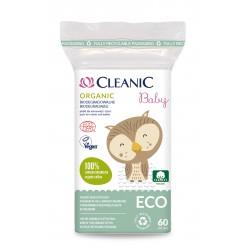 Cleanic Baby Eco Płatki dla niemowląt i dzieci Organic - biodegradowalne  1op.-60szt