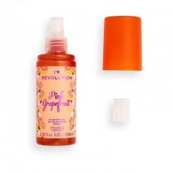 I Heart Revolution Fixing Spray rozjaśniający makijaż Pink Grapefruit  100ml