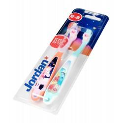 Jordan Szczoteczka do zębów dla dzieci DUO Step by Step 6-9 soft - mix wzorów 1szt