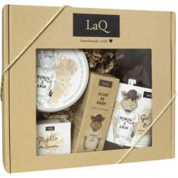 LaQ Zestaw prezentowy dla mężczyzn Dzik (żel p/pr 500ml+olejek 30ml+mydło kostka 85g+peeling 200ml) 1op.