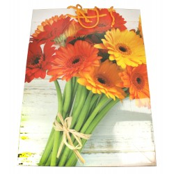 Torebka ozdobna w kwiaty - mix wzorów rozmiar XL  1szt