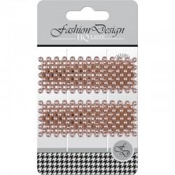 "Top Choice Fashion Design Spinki typu ""Pyk"" perła rose gold (23835)  1op.-2szt"