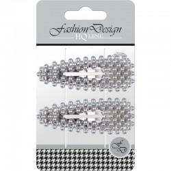 "Top Choice Fashion Design Spinki typu ""Pyk"" perła srebrna (23811)  1op.-2szt"