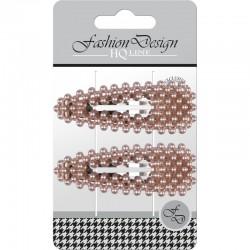 "Top Choice Fashion Design Spinki typu ""Pyk"" perła rose gold (23804)  1op.-2szt"
