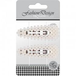 """Top Choice Fashion Design Spinki typu """"Pyk"""" perła biała (23798)  1op.-2szt"""
