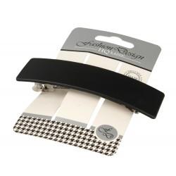Top Choice Fashion Design Spinka do włosów automatyczna czarna-mat (26348) 1szt