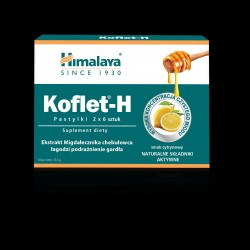 Himalaya Koflet - H Pastylki do ssania cytrynowe - suplement diety 2x6szt