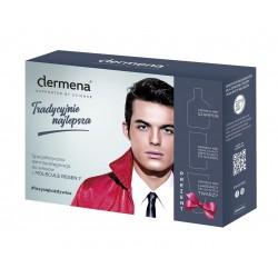 Dermena Supported By Science Men Zestaw prezentowy (szampon 200ml+krem po goleniu 50ml+żel do mycia twarzy 150ml)