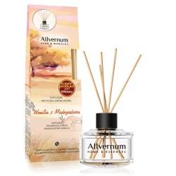 Allvernum Home & Essences Dyfuzor z patyczkami zapachowymi Wanilia z Madagaskaru 1op.