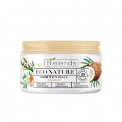Bielenda Eco Nature Masło do ciała odżywcze - Mleczko Waniliowe & Kokosowe & Kwiat Pomarańczy 250ml