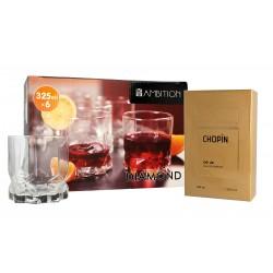Chopin Zestaw prezentowy OP.28 (woda perfumowana 100ml+szklanki 6szt)