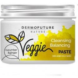 Dermofuture Nature Veggie Pasta oczyszczająca do twarzy Ogórek&Imbir - cera mieszana i tłusta 150ml