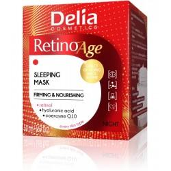Delia Cosmetics RetinoAge Maska ujędrniająco-odżywcza na noc 50ml