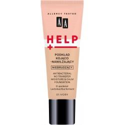 AA HELP Podkład do twarzy kojąco-nawilżający nie brudzący nr 01 Ivory 30ml