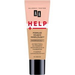 AA HELP Podkład do twarzy kojąco-nawilżający nie brudzący nr 03 Beige 30ml