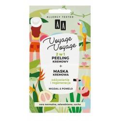 AA*VOYAGE  Peeling + maska 2x5ml Migdał & Pomelo