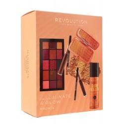 Makeup Revolution Illuminate & Glow Zestaw kosmetyków do makijażu Bronze  1op.