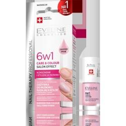 EVELINE*KOL Odżyw d/pazn NAIL TH. 6w1 Color-Pink