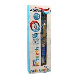 Aquafresh Milk Teeth Zestaw (pasta do zębów 0-2 lat 50ml + szczoteczka do zębów)